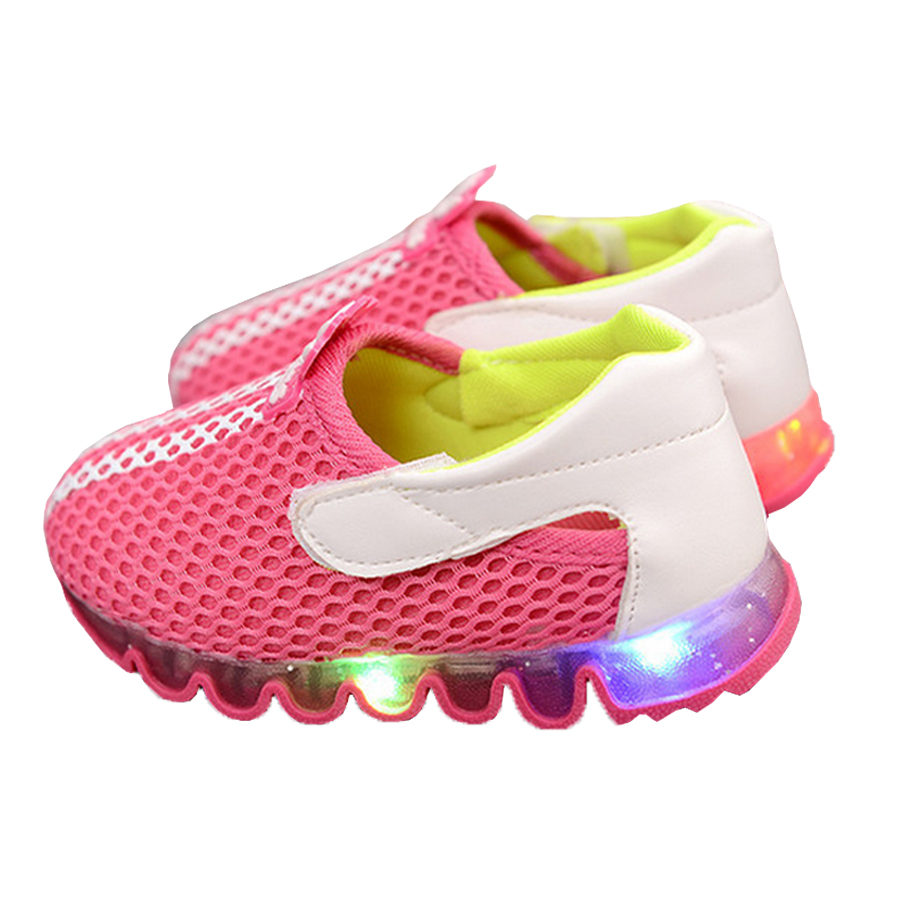 Hot sell kids children led light up sneakers LED Luminous Shoes Boys Girls Of Colorful Flashing Lights Casual Sneakers For Girl(China (Mainland))