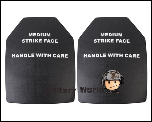 API Dummy Ballistic Plate Set  Shockproof Thick And Elastic  Hollow Inside For Airsoft Tactical Vest   Black (2 pcs)