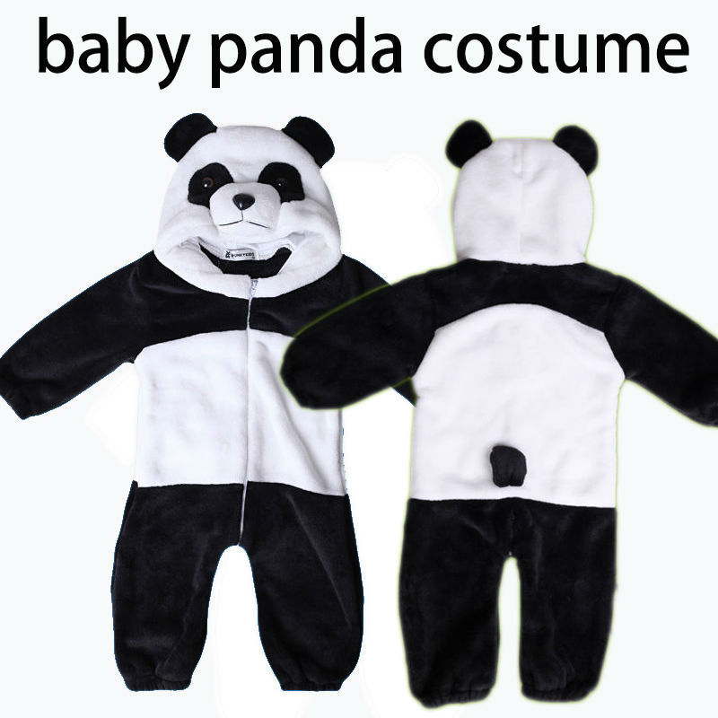 Hot sales 2014 new panda overall animal rompers cartoon boy/girl jump suit winter flannel plush infant clothes bebe clothing<br><br>Aliexpress