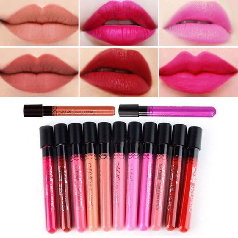 Гаджет  #20-38 1 PC Makeup Moisture Matte Color Lipstick Long Lasting Nude lip stick lipgloss red color vitality cerise star None Красота и здоровье