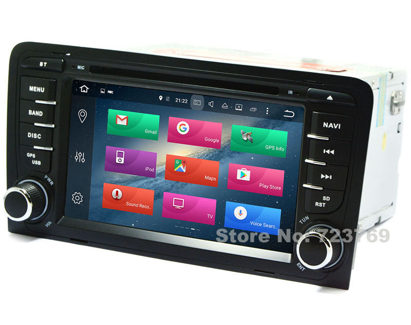 2G RAM Android 7.1.1 Car GPS Navigation System DVD Player Auto Radio Audio Video Stereo Media For Audi A3 Support DVB-T ATSC TV