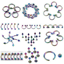 Buy Mix Piercing Wholesale 120Pcs/lot Stainless Steel Eyebrow Lip Piercing Labret Body Jewelry Tunnels Ear Tragus Piercing Tongue for $13.59 in AliExpress store