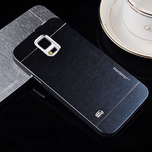 motomo s5mini G800 Brushed Aluminum+PC Hard case for Samsung Galaxy s5 mini Mobile Phone Luxury Metal Back Cover+tracking number(China (Mainland))
