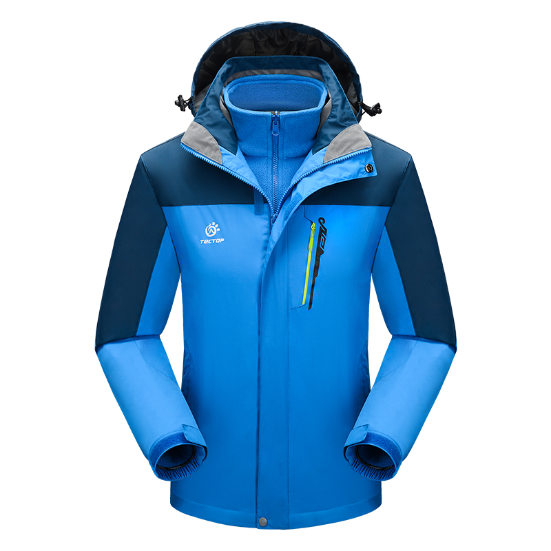 Фотография Hot Sale Polyester 3 in 1 Male Jacket Outdoor Windproof Down Jacket for Men Sport Jacket Outdoor Waterprood Outerwear JW5195