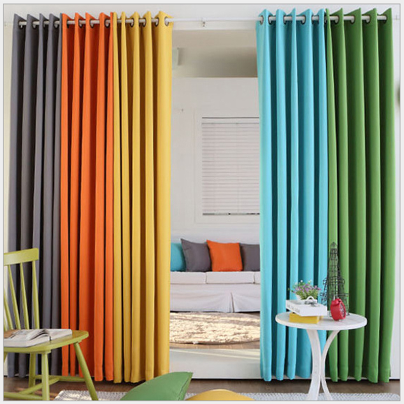 (Color of 16) Home Fashion Window Treatment Thermal Insulated Solid Grommet Blackout Curtains Panel Modern Drapes for Bedroom(China (Mainland))