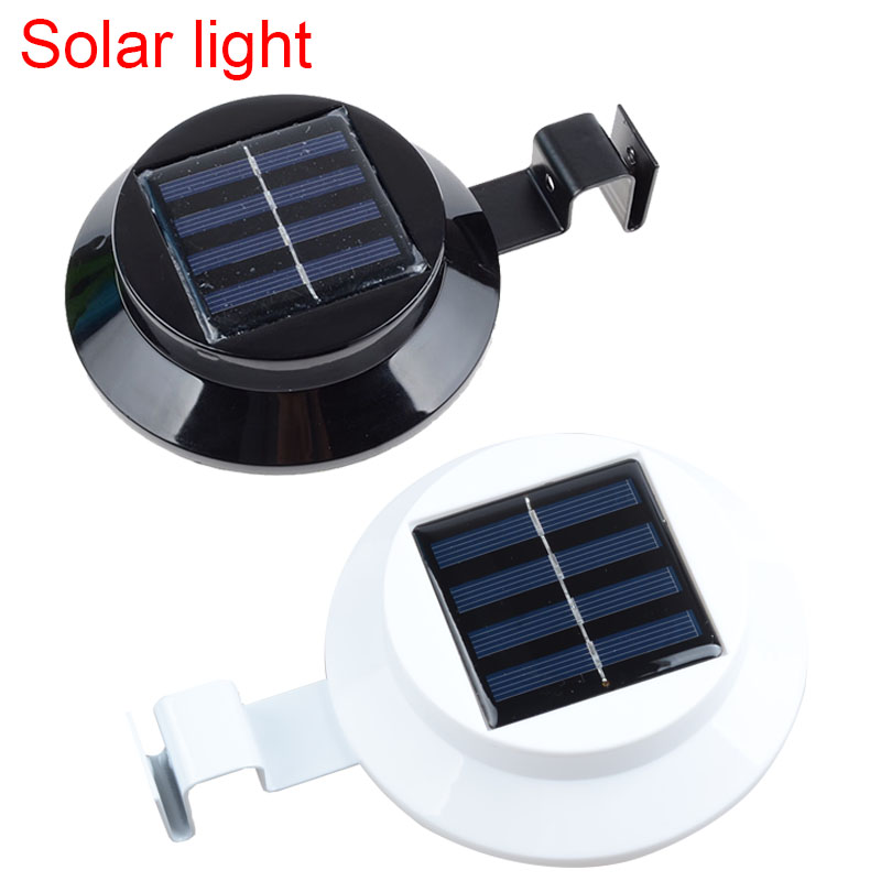 3 leds light sensor control Solar Powered Fence Gutter Solar Lights, Outdoor Security Solar Lamps use Polysilicon solar panels(China (Mainland))