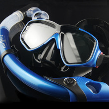 Diving Equipment Diving Gear Silicone Mask and 100% Full Dry Snorkel Diving Tube Combo Set Breathing Tube Set(China (Mainland))