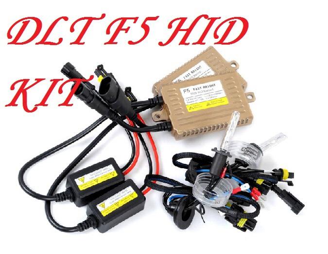 DLT F5 HID kit+Free ship!CNLight Xenon bulb,55W 9~18V;H1,H3,H7,9005,9006,H11;4300K~10000K(3000K need add 6USD),good!<br><br>Aliexpress