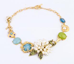 Здесь можно купить  Free DHL High-end gems pearl flower women necklaces QD-51 Fashion necklaces for women 2013  Ювелирные изделия и часы