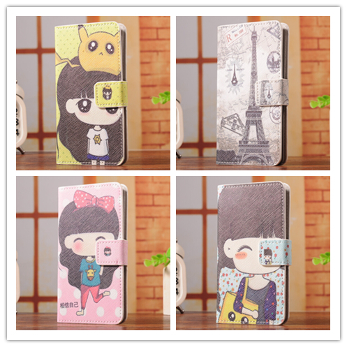 6 Select 1 Luxury Fashion Cartoon Trend Stand Back Cover Skin Leather CaseFor LG L50 D213 D221 Dual D227(China (Mainland))