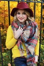 Winter 2016 Tartan Scarf Plaid Scarf New Unisex Acrylic Basic Shawls Women's Scarves hot sale za scarf