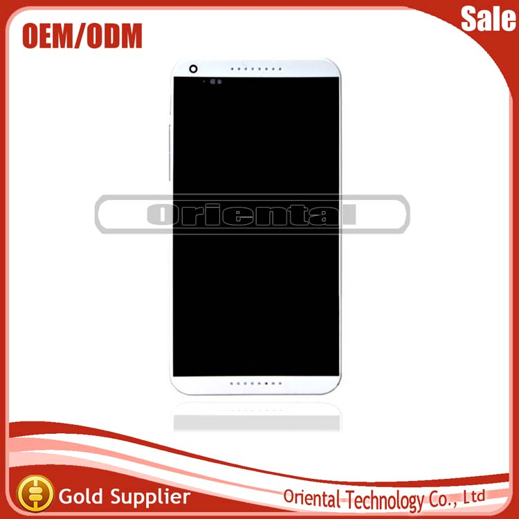 Original New For HTC Desire 816G D816G LCD display with touch screen digitizer assembly with frame Free Shipping