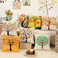 2016 Hot Sell New Home Decorative home Cushion Throw Pillowcase 18 Vintage Cotton Linen Square Pillows