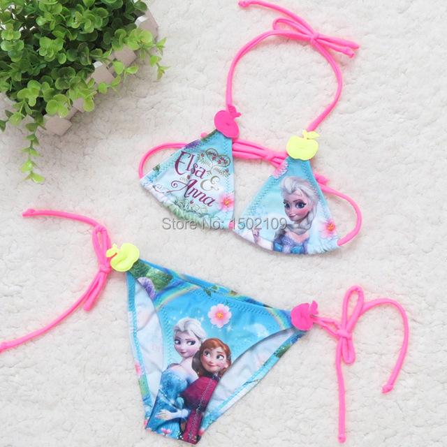 Trajes De Baño Verano Azul:Anna verano bikini de baño del bebé del traje de baño azul para