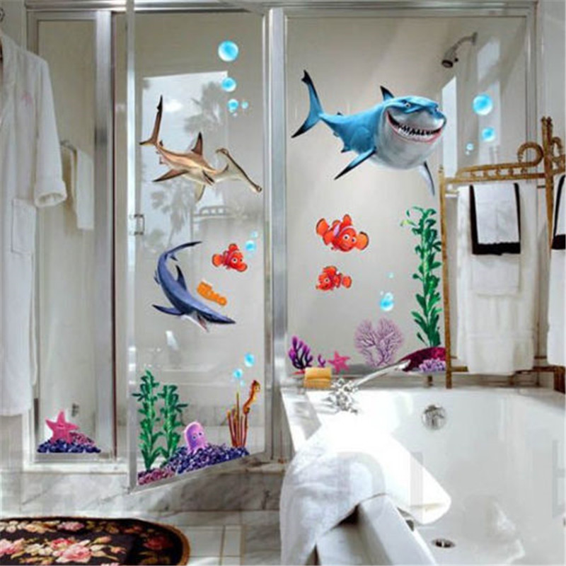 Nemo Bathroom Set. I would totally own this and not even be ...