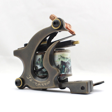 HANDMADE copper Tattoo Machine 12 coils ETM05123 beautifully carved Liner tattoo gun<br><br>Aliexpress