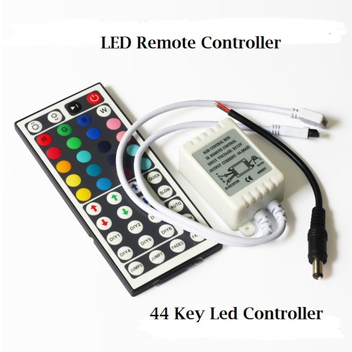 5pcs/lot 12v 44key ir remote controller 1 controller for 5 pcs smd 3528 5050 rgb led strip light WLED01<br><br>Aliexpress
