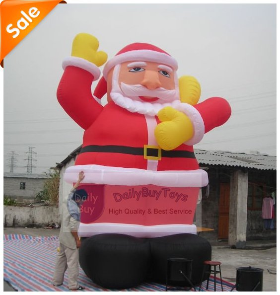 DAD-09 Christmas Inflatable Santa Claus 5mH + Repair Kits + Blower 100% positive feedback Factory price(China (Mainland))
