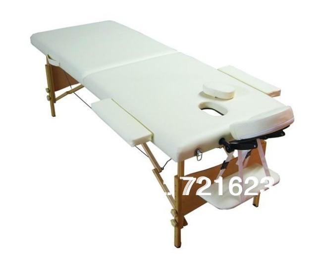 portable 2-section wood folding massage table(China (Mainland))