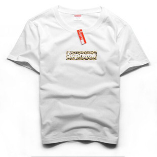 SUPREM T Shirt Box Logo T-Shirt Men 2015 Fashion Caual Hip Hop T-Shirt Simple Classic Solid T Shirt 100% Cotton High Quality Tee(China (Mainland))
