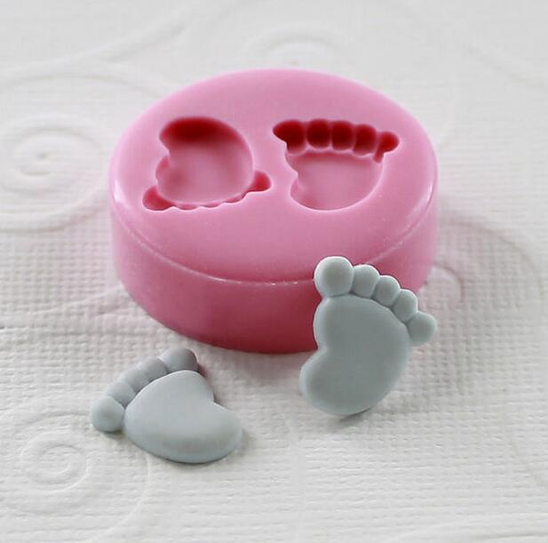 Very Very Tinny ( 12mm)Mini Feet/Foot Silicone Fondant Mold For Cake Decorating Tools Cake mold Chocolate(China (Mainland))