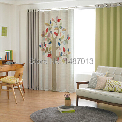 buy colorful tree print korea window