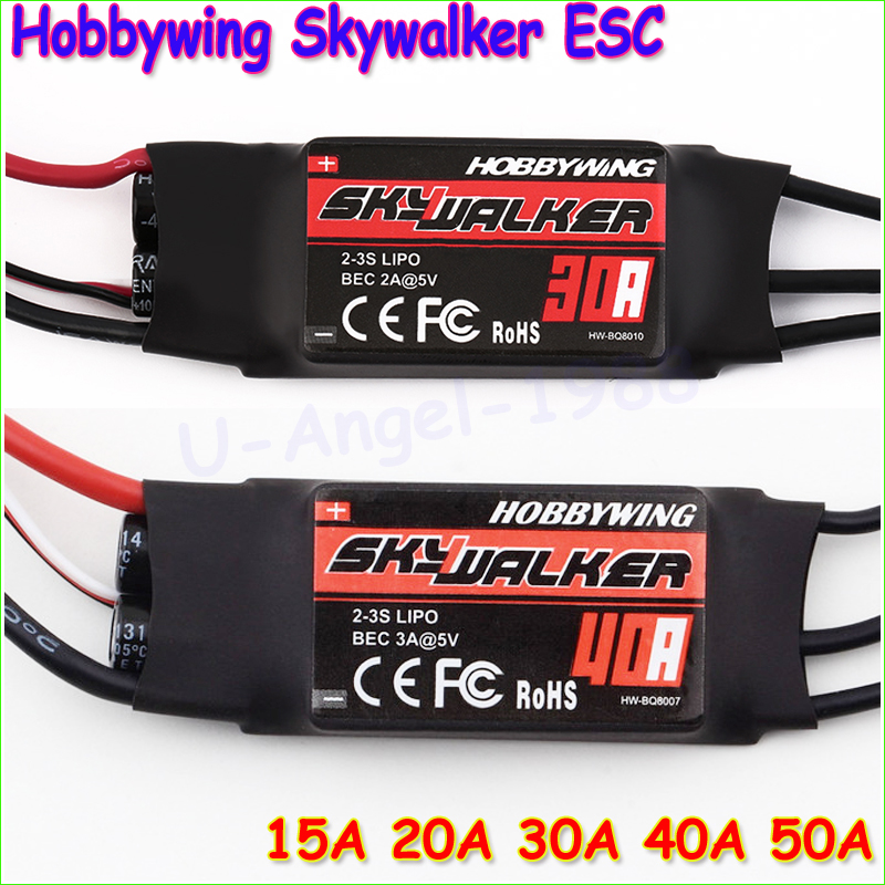 1pcs Hobbywing Skywalker 15A 20A 30A 40A 50A ESC Speed Controler With UBEC For RC FPV Quadcopter RC Airplanes Helicopter(China (Mainland))