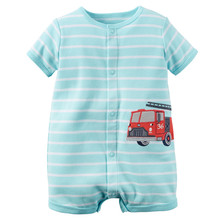 Summer  brands Newborn Baby Rompers Short Sleeve Cartoon Cotton Jumpsuits Baby Infant Baby Clothes For Girls Boys' Clothing Sets(China (Mainland))