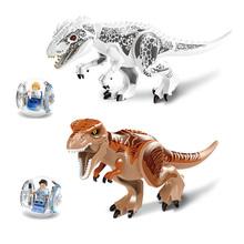 Оригинал Миру Юрского Tyrannosaurus Блоки Jurrassic Парк 4 Динозавров Цифры Кирпичи Игрушки Совместимые с Legoelieds(China (Mainland))