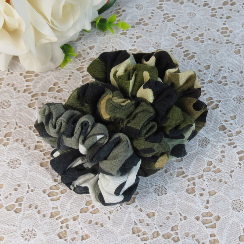 Headwear Hair Camouflage Ribbons Ponytail Holder Hair Tie Band Women Hair Accessories Fabric Hair Bands(China (Mainland))