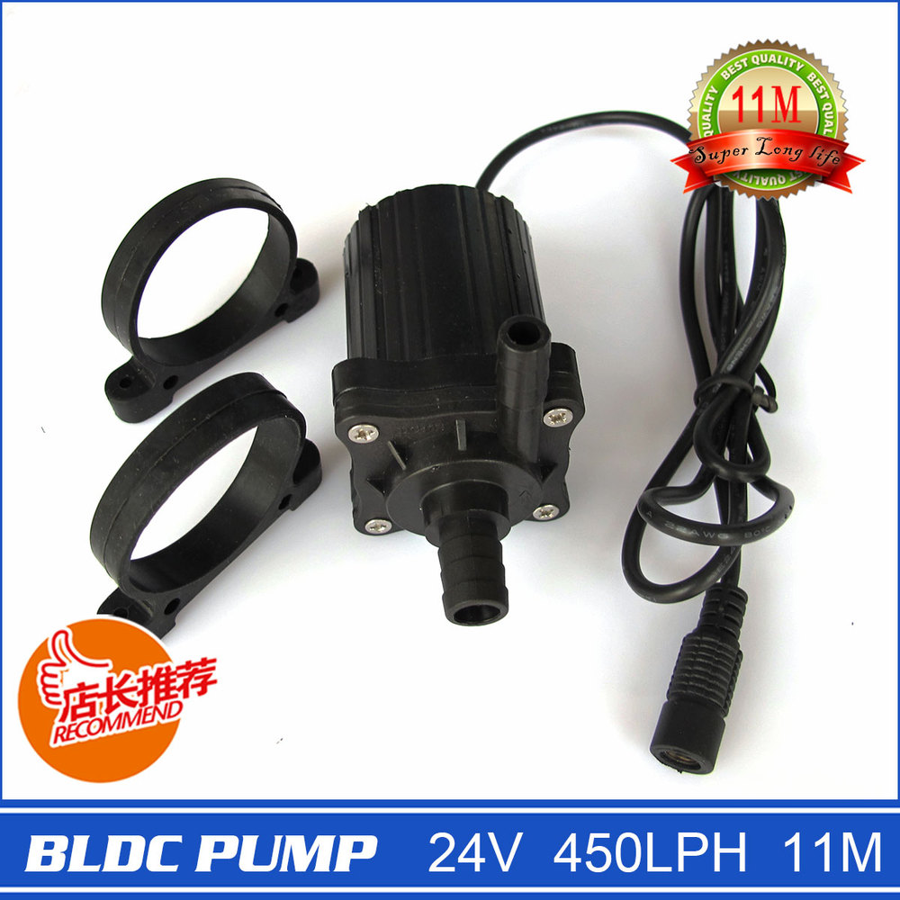 Mini Size 230g 11meters 450LPH BLDC PUMP, Small but super high head, Brand New Technology, with DC Plug and Silicone base(China (Mainland))
