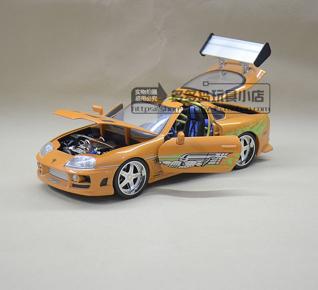 NEW JADA FAST FURIOUS DIECAST MODEL CAR TOYS 1:18 TOYOTA SUPRA VEHICLE REPLICA FOR BABY TOYS GIFTS FREE SHIPPING(China (Mainland))