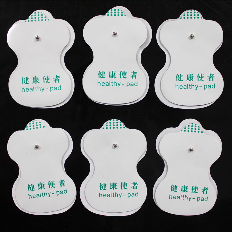 100pcs/lot Good Quality white Electrode Pads for Tens Acupuncture,Digital Therapy Machine Massager(China (Mainland))