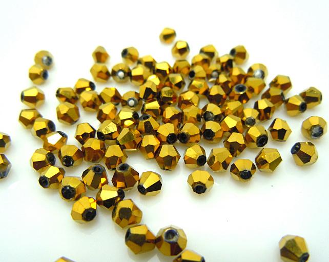 Здесь продается  10,000pcs 4mm Bicone Austria Crystal BeadsGlass Beads Loose Beads Golden Color  Ювелирные изделия и часы