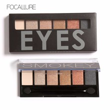 6 Colors/Palette Natural Warm Eyeshadow Professional Makeup Cosmetic Palette Brush Kit Eye Shadow Waterproof Easy to Wear(China (Mainland))