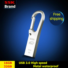 SSK K6 SFD219 USB 3.0 100% 16GB 32GB USB Flash Drives Metal Waterproof Pen Drive High Speed USB Stick Free shipping