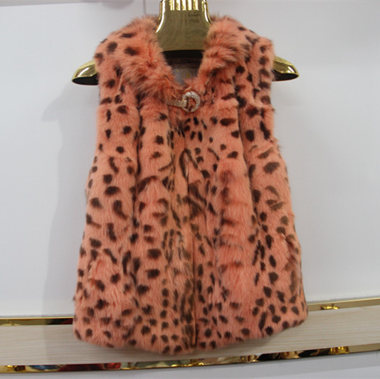 2015 new rabbit fur coat ma3 jia3 in long dress Cultivate one's morality show thin vest vest