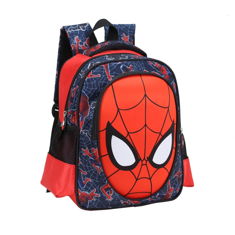 2016 3D cartoon spiderman children school bag students 6 -12 years boy backpack kids cool travel large capacity bag child gift(China (Mainland))