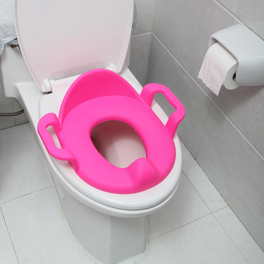baby toilet training seat plastic child seat with handles baby toilet seats(China (Mainland))