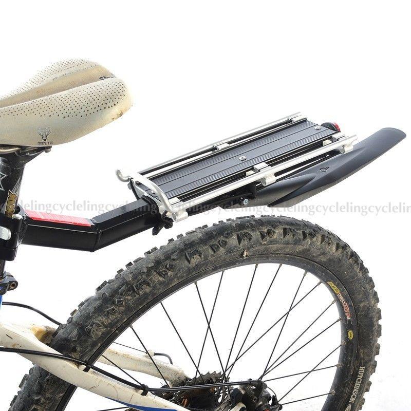 ROCKBROS Sepeda Rak Belakang + Carry Pembawa dengan Mudguard Fender Sepeda Rilis cepat Rak Max Beban 25 KG Disc-rem v-brake Bagasi