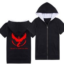 Pokemon Go 2016 Ladies Women Men Unisex Hooded Sweatshirt Pocket Monster Zipper Jacket Zip Up Harajuku Outerwear Hoodies