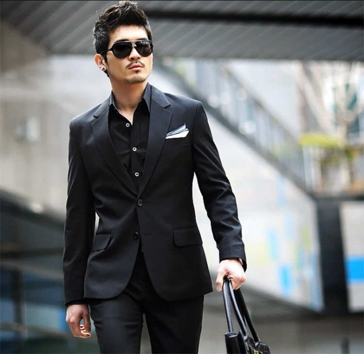 11-Free Shipping New 2015 man suit classic Fashion grooms man suits! Men's Blazer Business Slim Clothing Suit And Pants