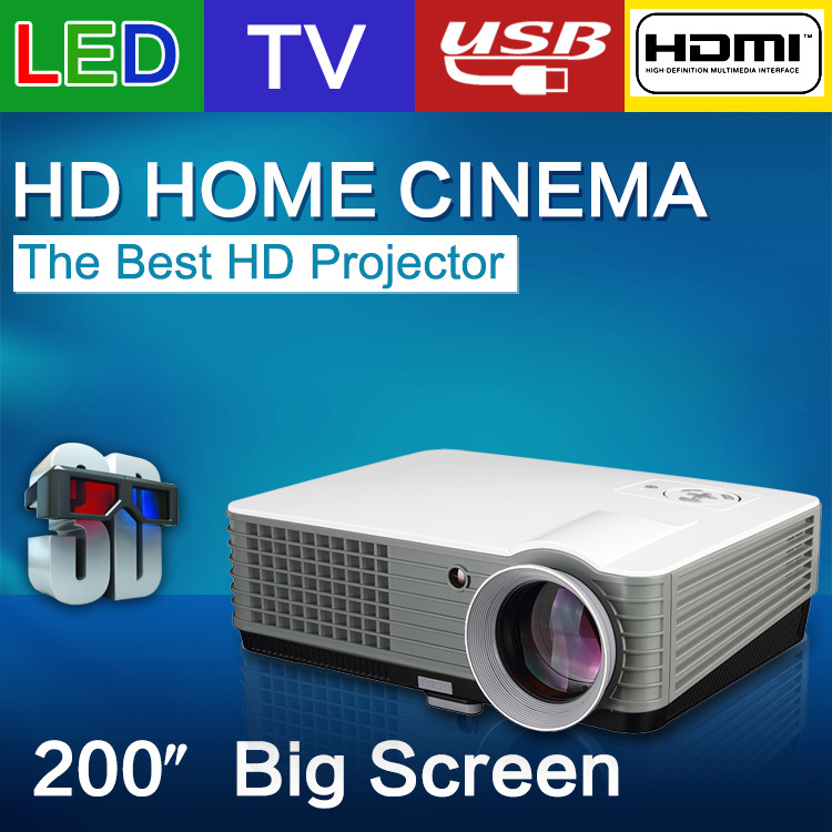 Free shipping RD-801 TV LED Projector Full HD 2000 Lumens Video Games Home Beamer projektor Cinema Theater Video Projectors(China (Mainland))