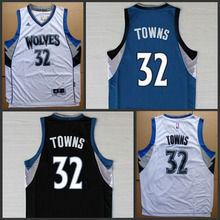 Best Quality 2015 New Arrivals .NBA Caps MINNESOTA TIMBERWOLVES Jersey NBA #32 Karl-Anthony Towns Jersey Dolls(China (Mainland))