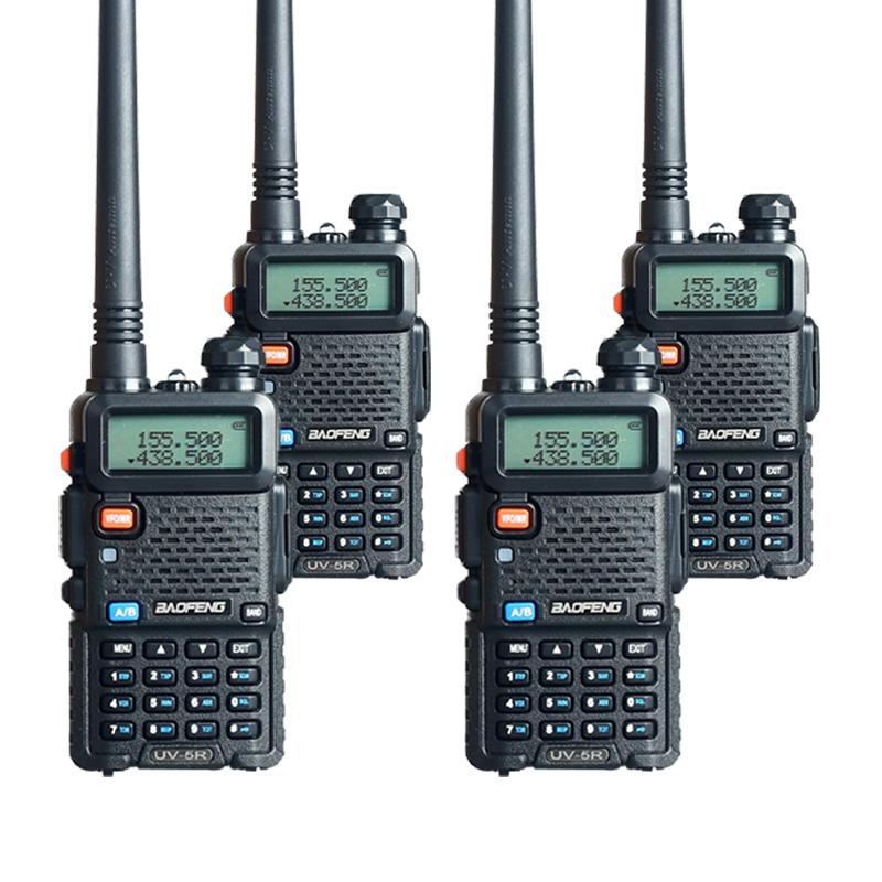 4PCS Baofeng UV-5R Walkie Talkie Radios Two Way Pofung UV 5R 128CH UHF VHF FM VOX Radio(China (Mainland))