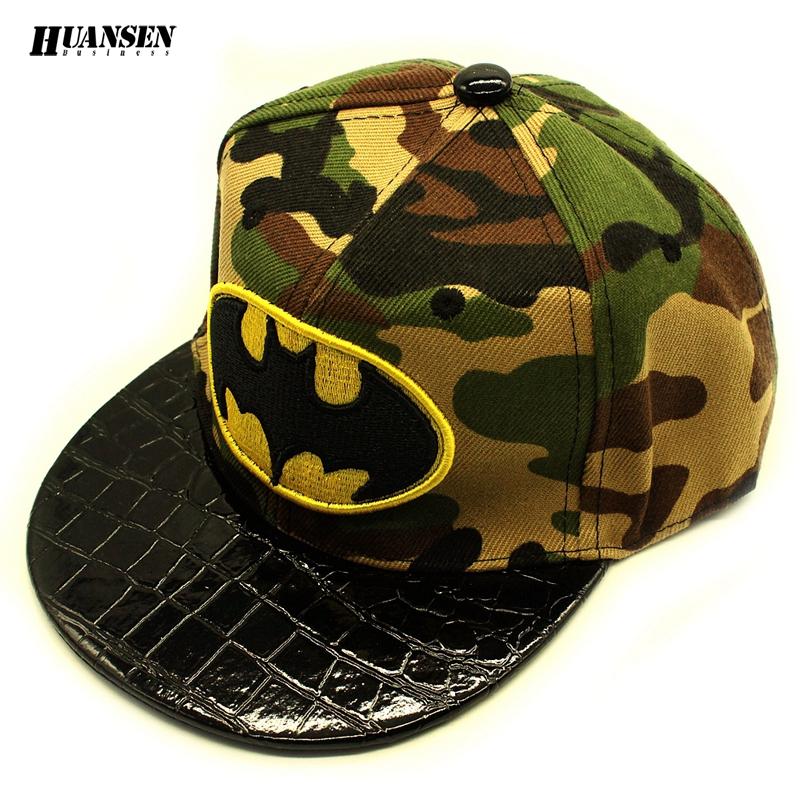 Leather brim bat snapback cap cheap Outdoor summer cap kid Fashion rap cap Nice hat for boy camouflage casquette hip hop SPMZ067(China (Mainland))