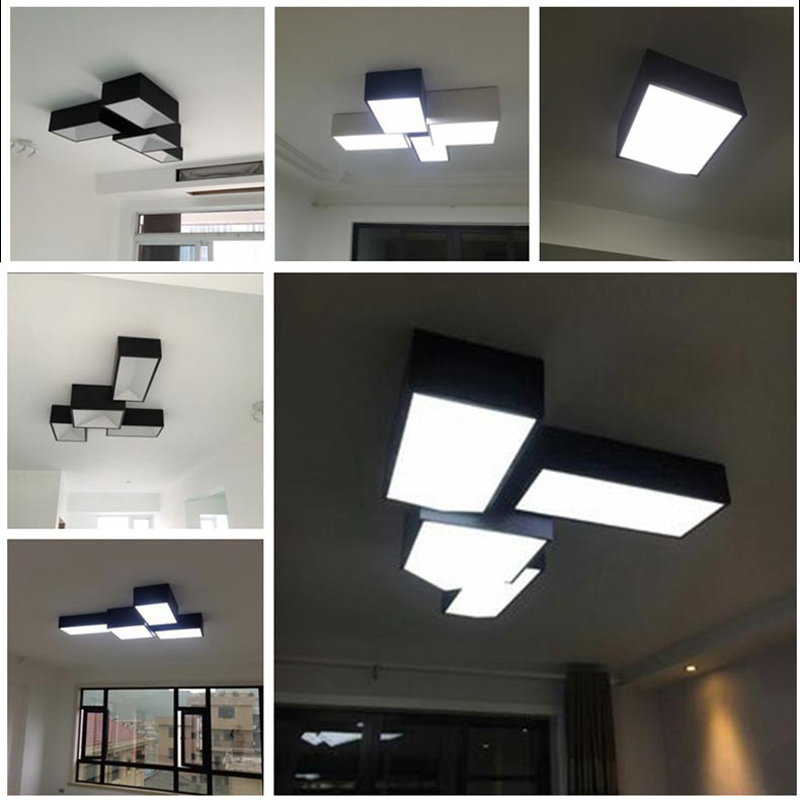 Geometry Modern Led Ceiling Lights For Yor Living Room Bedroom Hallway Free Match DIY Led Ceiling Lamp Fixtures luminaria teto<br><br>Aliexpress