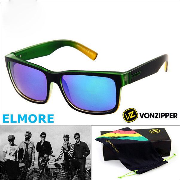 Famous Brand Men's Von Zipper Sunglasses Sport Cyling Glasses Vonzipper ELMORE with Original Box oculos de sol masculino gafas(China (Mainland))