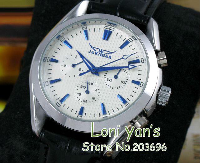 2012 Hot! Automatic Mechanical 6 Hand Selfwind watch Mens Watch Wrist watch White watch Gift Free Ship<br><br>Aliexpress