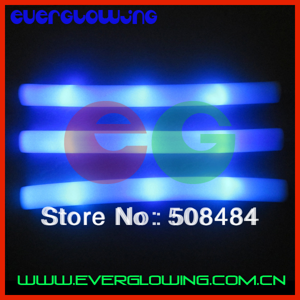new 100pcs/lot 4*48cm steady blue light led foam stick foam glow stick light foam stick for Christmas(China (Mainland))